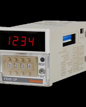 Счетчик-таймер FX4S-1P DIN 48 (Ш) х 48 (В) мм, 4 разряда, 24В~, 24-48В=, 1 уставка, (обновленный)