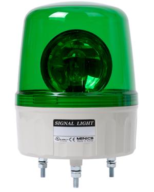 Вращающийся сигнальный маячок зеленого цвета с лампой накаливания AVGB-02-G