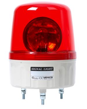 Врашающийся сигнальный маяк карсного цвета на 220 вольт AVG-20-R