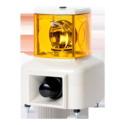 Световая колонна с желтым вращающимся маячком MSGS-120-Y