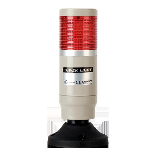 Световая колонна постоянного свечения красного цвета MT4B-1ALG-R на 24 вольта с лампой накаливания.