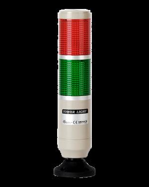 Световая колонна постоянного свечения красного и зеленого цвета с питанием 24 вольта MT5B-2ALG-RG