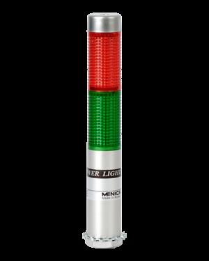 Сигнальная колонна PLDSF-202-RG с красным и зеленым плафоном на 24 вольта.