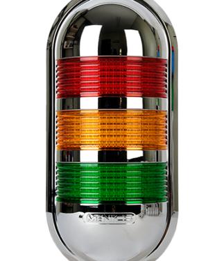 Индикаторные светильник PWECZ-301-RYG красного, желтого и зеленого цвета.