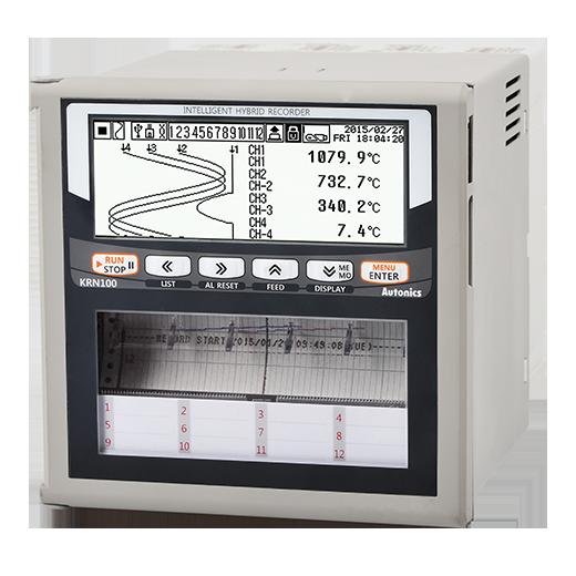 Гибридный регистратор KRN100 00мм, 6-канальный, 8 аварийных выходов, RS485/Ethernet/USB, 100 до 240 В~