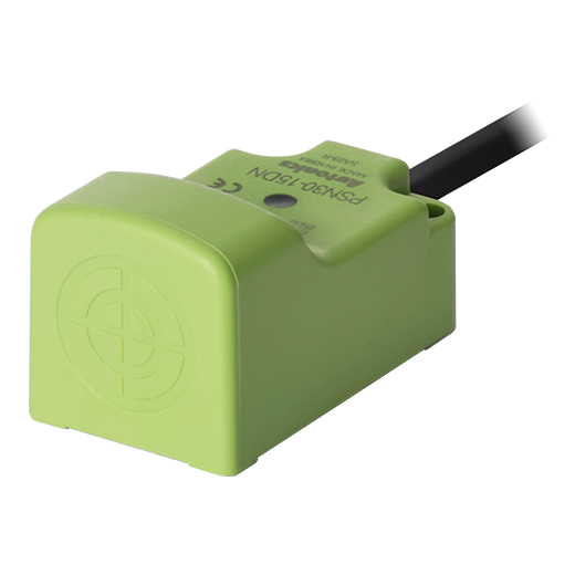 PSN30-15DN Датчик индуктивный, квадратный, 30 мм, Зона чувствительности 15мм, Обнаружение сбоку, Постоянный ток, NPN, НО, 3-проводной, 10-30 В=
