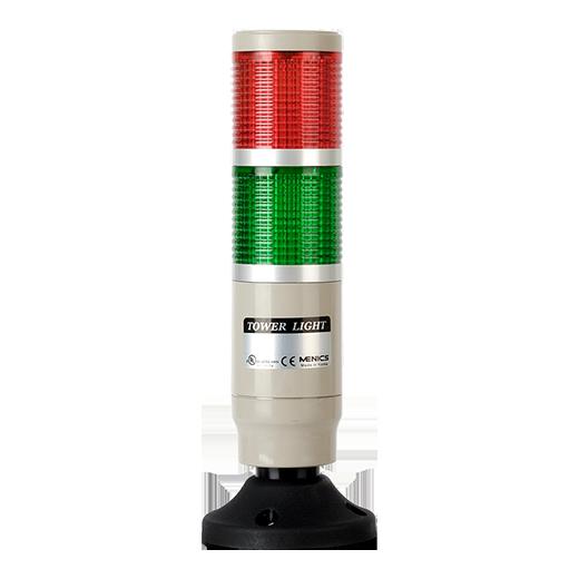 Световая колонна MT4B-2ALG-RG постоянного свечения с красным и зеленым плафоном на 24 вольта.