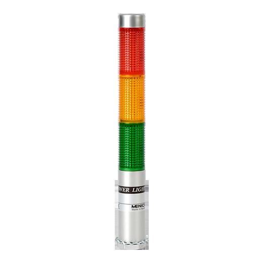 Сигнальная колонна PLDSF-202-RG. Цвет светодиодных индикаторов : Красный , желтый , зеленый