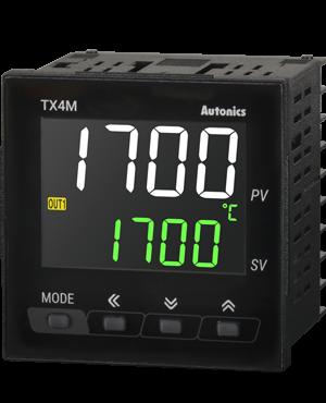 Температурные контроллеры серии TX4M с ЖК-дисплеем. ВКЛ/ВЫКЛ, П-, ПИ-, ПД-, ПИД-регулирование