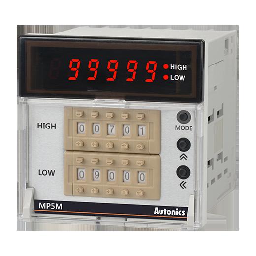 Цифровые счетчики импульсов серии MP5M для измерения частоты вращения, скорости, частоты и другие 14 режимов работы